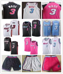 $enCountryForm.capitalKeyWord Australia - Men's Miami Dwyane 3# Wade Blue Pink Black 2019 City Swingman Basketball Jersey shorts Embroidery Wade shirt Stitched Free Shipping