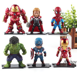 Red Hulk Figures Australia - Marvel Figure Avengers Iron Man Spiderman Hulk Thor Captain America Action Figure Toy 9.5cm