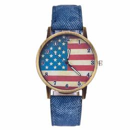 $enCountryForm.capitalKeyWord UK - Hot Fashion Women USA Flag Watch Casual Luxury Leather Quartz Watch For Dropshipping Clock