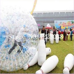$enCountryForm.capitalKeyWord Australia - Free Shipping 6 Pieces A Lot And 1 Piece Zorb Ball Inflatable Human Bowling Game Zorb Ball For Bowling Outdoor Human Bowling