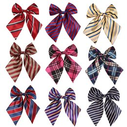 Discount girls bowties - Striped Ladies Bowtie Classic Shirts Bow Tie For Women Business Wedding Bowknot Plaid Bow Ties Butterfly Girls Suits Bow