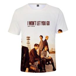 Kpop Print Shirt Australia - Kpop GOT7 Shirt Women's Men's GOT7 Team New Album I WON'T LET YOU GO Print Short Sleeve T-Shirt Round Neck T-Shirt