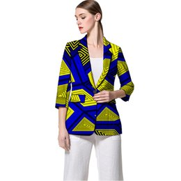 $enCountryForm.capitalKeyWord Australia - African clothing women's print blazers slim fit Ankara fashion suit jackets custom made for wedding female formal jackets