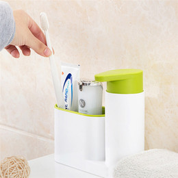 multifunctional kitchen rack Australia - 2 In 1 Multifunctional Kitchen Storage Rack Washing Sponge Brush Sink Detergent Soap Dispenser Bottle Kitchen Organizer Gadgets