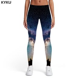 Xl Womens Leggings Australia - KYKU Galaxy Leggings Women Nebula Sexy Colorful 3d Print Harajuku Trousers Sport Womens Leggings Pants Casual Slim Skinny