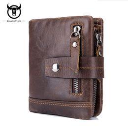 Rfid Print Australia - BULLCAPTAIN RFID Leather Men Wallet Fashion Coin Pocket Brand Trifold Multifunction Men Purse High Quality Male Card ID Holder #529077