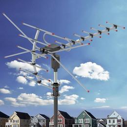 Wholesale 200Miles 1080P Outdoor Amplified HDTV Digital TV Antenna Long Range HD VHF UHF