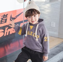 shield clothes 2019 - Hooded 2018 autumn and winter new boys and girls sweater plus velvet hooded children's clothing wholesale cheap shi