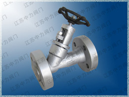 Control Valves Types Australia - Duplex stainless steel high pressure flange Y type globe valve