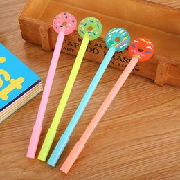$enCountryForm.capitalKeyWord NZ - Sweet donuts gel pen 0.5mm black children Writing Pen Office Eexamination Limited Office Material School Supplies wholesale Free E-PACK