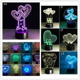 $enCountryForm.capitalKeyWord Australia - Love Heart 3D USB Nightlight Valentine's Day Creative 3D Stereo Touch Lights Multicolor Decorative Nightlight Lamps Table Desk LED Lamp