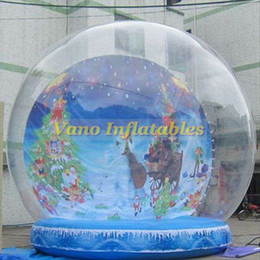 inflatable show Australia - Christmas Snowing Globe Inflatable Show Balls 4m High for Festival Commercial at Mall with Free Pump Free Shipping