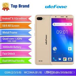 Gold Gp 18 Australia - Ulefone S1 Pro Mobile Phone Android 8.1 5.5 inch 18:9 MTK6739 Quad Core Face ID 16GB ROM 13MP+5MP Rear Dual Camera 4G Smartphone