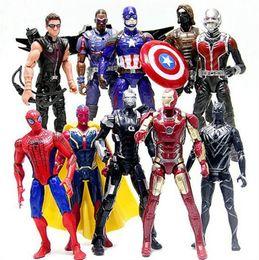 $enCountryForm.capitalKeyWord Australia - 10pcs set Marvel Avengers 3 Infinity War Action Figures Heroes Spiderman Ironman Superman Hawkeye Bat man hulk deadpool captain America figu