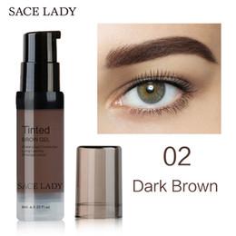 Black Brow Gel Australia - Factory Henna Eyebrow Pomade Gel 6Color Waterproof Enhancer Tint Makeup Tattoo Brown Black Eye Brow Corrector Cream With Best Brush Kit