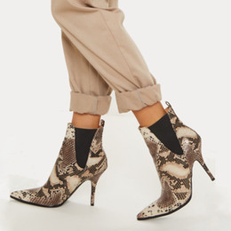 $enCountryForm.capitalKeyWord NZ - Goddess2019 Fine Autumn With High-heeled Sexy Snake Short Will Code Women's Shoes White Sleeve Woman Boots 43