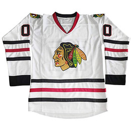 Christmas Movie Costumes UK - Clark Griswold Blackhawks Jersey Clark Griswold 00 National Lampoons Vacation Movie Costume Hockey Jerseys Chicago Blackhawks Christmas Gift