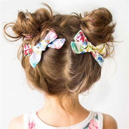 $enCountryForm.capitalKeyWord NZ - Lovely Baby Girls Print Flower Bohemian Style Bow BB Hair Clips Headwear Children Cute Cotton Hairpins 2019 Hair Accessories