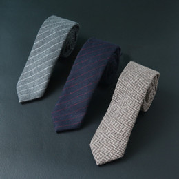 Mens patchwork plaid shirts online shopping - 100 Wool Tie cm Men s Business Grid Stripe Necktie Mens Ties White Shirts Fake Designer Accessories