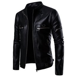 $enCountryForm.capitalKeyWord Australia - free shipping Omega 2019 New Men's Locomotive Windshield Handsome PU Leather Jacket Coat B053