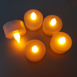 $enCountryForm.capitalKeyWord Australia - LED Candle Light Battery Powered Color Flame Candle Simulation Flickering LED Tea Light Candle For Wedding Birthday Party Decoration