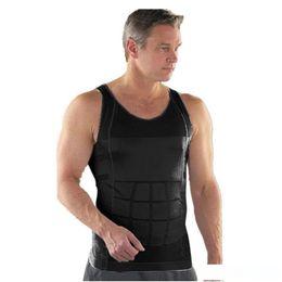 Men suMMer underwear online shopping - New Hot Men Body Slimming Tummy Shaper Belly Underwear Shapewear Waist Girdle Summer Sport Vest Men