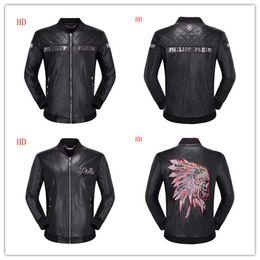 Luxury Motorcycle Jackets Australia - European and American men's new men's jacket stand collar jacket wholesale luxury - men's fashion classic bomber jacket slim motorcycle jack
