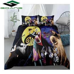Discount luxury super king size beds GOANG Nightmare before Christmas Bedding Set Sally and Jack super king size bedding sets luxury home textiles 5 series