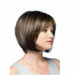 color bob wigs UK - Details about Women Short Synthetic Bob Wigs Blonde Straight Bob Hair Wigs Natural Party