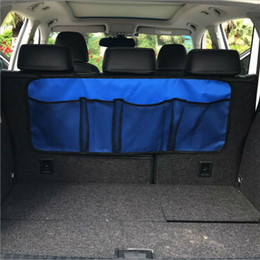 back clothing Australia - Creative Car Rear Seat Back Storage Bag Multi Hanging Nets Pocket Trunk Bag Organizer Auto Stowing Tidying Interior Accessories Supplies