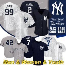 c2518ea8b New York Custom Yankees jerseys Aaron Judge 42 Mariano Rivera 7 Mickey  Mantle 2 Derek Jeter Jersey