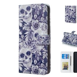 $enCountryForm.capitalKeyWord UK - Cool 3D Three Dimensional Skull Pattern Design Mobile Phone Wallet Case Cover Made of PU Leather