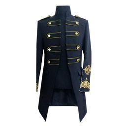 New Night Suit Australia - Hot Men's long section Slim ceremonial court suit 2019 new night bar male singer costume