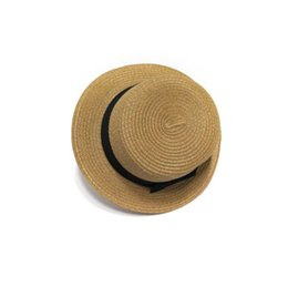 5824f673 2019 new star with the same straw hat small pepper bow straw flat top hat  beach hat female summer visor tide