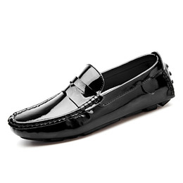 $enCountryForm.capitalKeyWord Australia - Mens Patent Leather Loafers Moccas 2019 Men Driving Flat Shoes Fashion Men Design Casual Shoes Plus Size Male Slip-On Flats