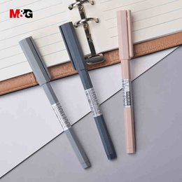 $enCountryForm.capitalKeyWord Canada - M&G wholesale 3pcs hexagonal body elegant ballpoint gel pens for writing stationery office school supplies Minimalism design pen