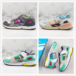 shoebox shoes Australia - Consortium ZX 10000 EQT 4.0 Running Shoes Mens Women Multi Color Real Leather Designer Casual Sport Sneaker With Shoebox