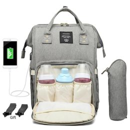 Wholesale designer backpack Maternity Waterproof Diaper Bag Usb Charging Large Mummy Nursing Backpacks Drop Shipping good quality