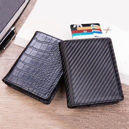 Back To Search Resultsluggage & Bags Card & Id Holders New Men Double Aluminum Cow Leather Travel Card Wallet Rfid Credit Card Holder Pu Leather Unisex Security Metal Smart Purse 486 Convenience Goods