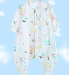 Fall clothes For toddlers online shopping - Unicorn Flamingo Animal Printed Baby Cotton Toddler Sleeping Bag Sack Long Sleeve Wearable Blanket Girl Boy For Spring Summer Fall DHL FJ165