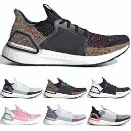 Adidas 2019 Ultra Boost 19 Hommes Femmes Chaussures De Course Ultraboost 5.0 Laser Rouge Foncé Pixel Core Noir Bon Marché Sport Sneaker Taille 36 47