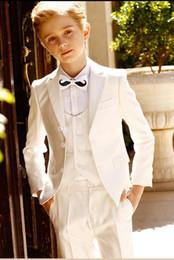$enCountryForm.capitalKeyWord Australia - Ring Bearer Suits Two Buttons Notch Lapel Kid Complete Designer Handsome Boy Wedding Suit Boys' Attire Custom-made (Jacket+Pants+Tie+Vest)