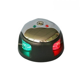 nautical lights 2020 - Marine Boat Yacht LED Bi-color Navigation Light 1 Nautical Mile Stainless Steel Port Light Starboard Light
