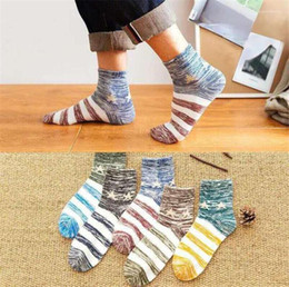 colorful socks mens fashion Canada - Socks Fashion Spring And Autumn Mid Calf Socks Homme Solid Warm Casual Stockings Mens Designer Colorful