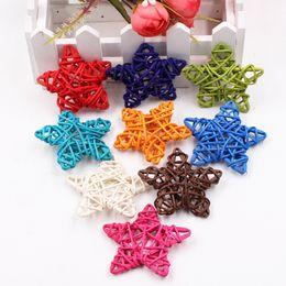 $enCountryForm.capitalKeyWord Australia - 5Pcs lot 6cm Rattan Wood Star for Wedding Birthday Party Decoration New Year Kids Gift Toys Christmas DIY Craft Decor Supplies