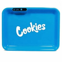 Cookies Runtz Glow in The Dark Rolling Tray light up Serving Tray LED Rolling for Smoke Glow Tray from sense herakles plus manufacturers