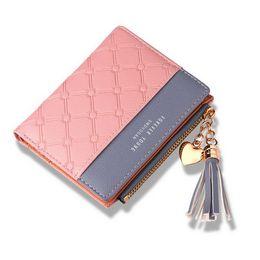 $enCountryForm.capitalKeyWord Australia - fashion Korean version of the new women's short wallet stitching collision color short wallet streamer zipper multi-card change