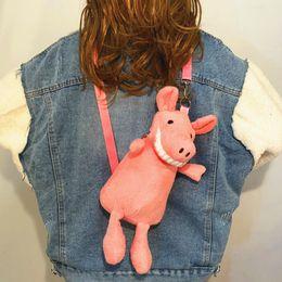 $enCountryForm.capitalKeyWord Australia - IVYYE Big Teeth Pig Fashion Anime Plush Shoulder Bags Soft Cartoon Tote Casual Handbag Fluffy Dolls Phone Bag Lady Girls New