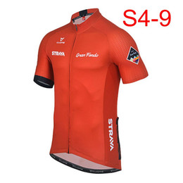 Discount wholesale lycra clothes - 2018 STRAVA Men short sleeve cycling jerseys Cycling jerseys mtb cycle bike only shirt clothing Maillot Ciclismo K122409
