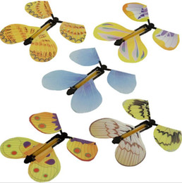 $enCountryForm.capitalKeyWord NZ - Magic Butterfly Flying in the Book Fairy Rubber Band Powered Wind Up Butterfly Toy Great Surprise Gift